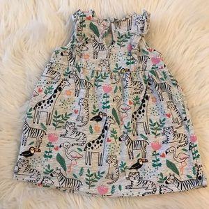 H&M Dresses - H&M BabyGirl Zoo Animals Ruffle Dress 4-6M